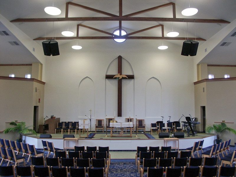 Multipurpose space with altar