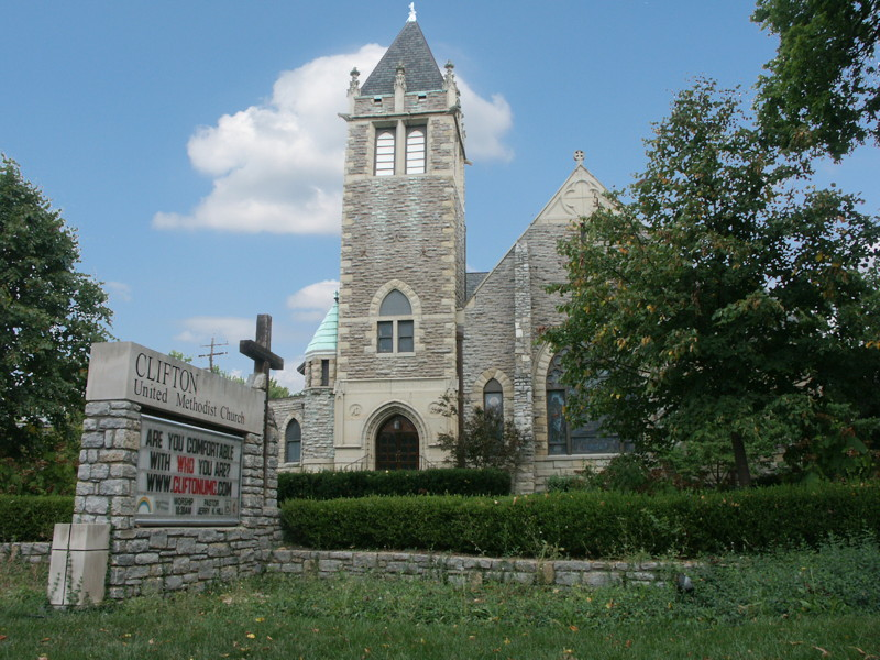 Stone church in Clifton