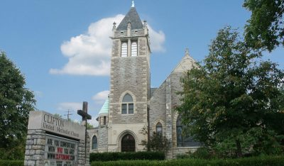 Stone church building renovations including interiors and stained glass