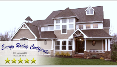 Energy Star rating five stars for custom residence