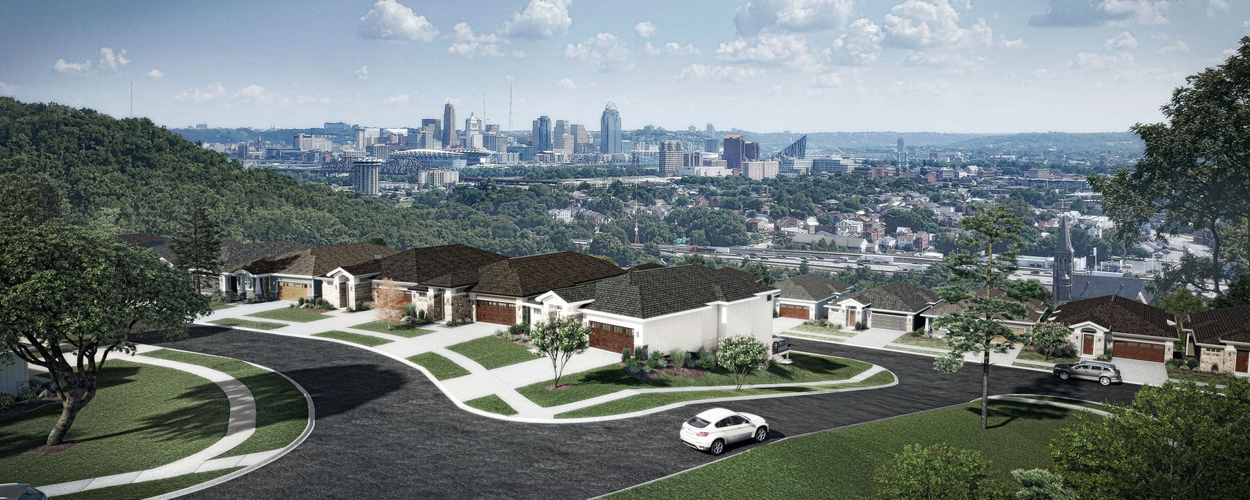 C|C has designed housing for a development with great views of downtown Cincinnati